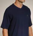 Nautica Match Play Solid SS V-Neck Shirt 138061