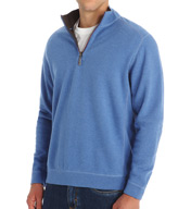 Tommy Bahama Flip Side Twill Reversible Half Zip Pullover T211442