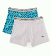 Tommy Bahama Marlin/Solid Cotton Stretch Boxer Briefs - 2 Pack 2171041